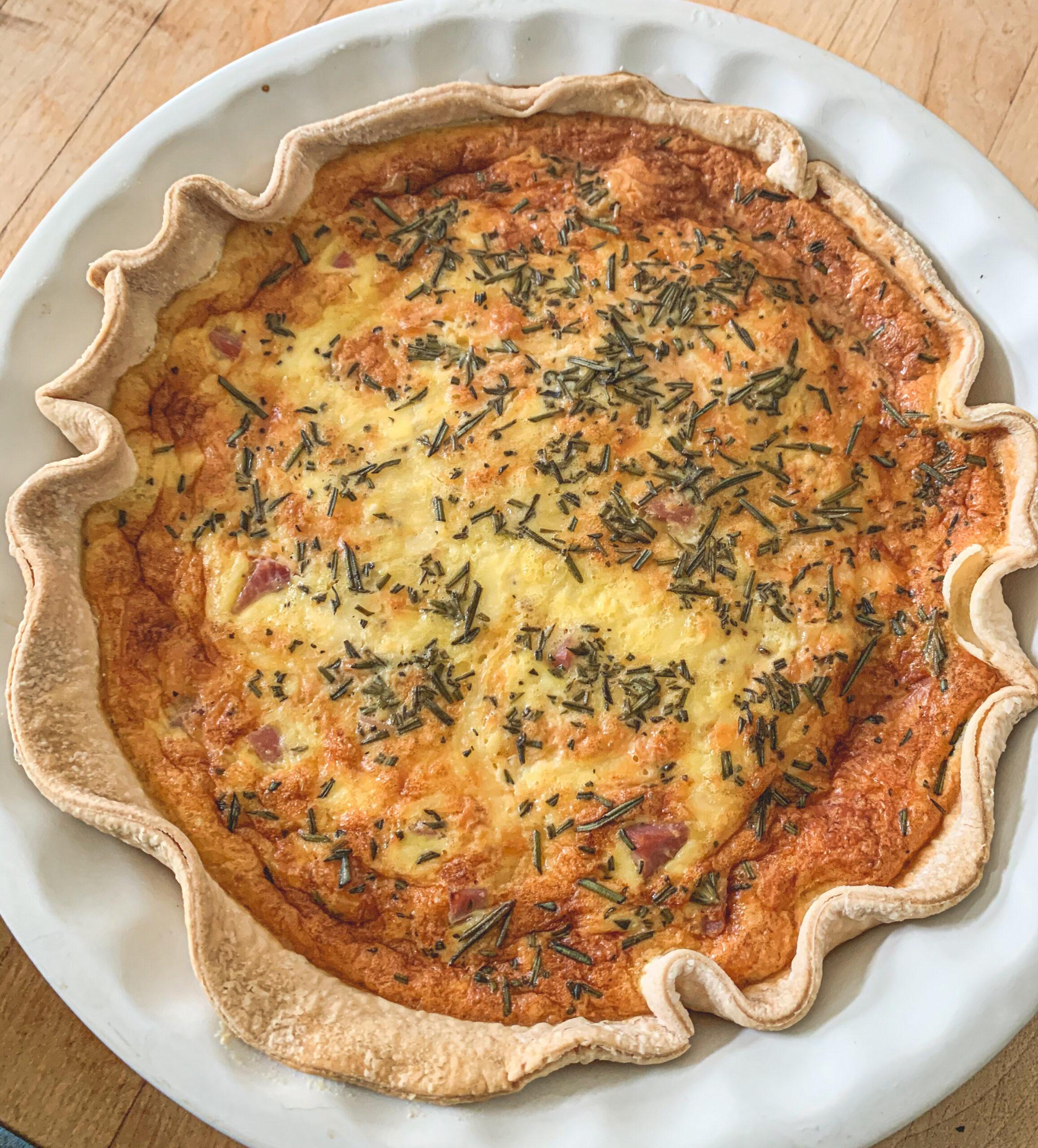 Ham & Three Cheese Quiche